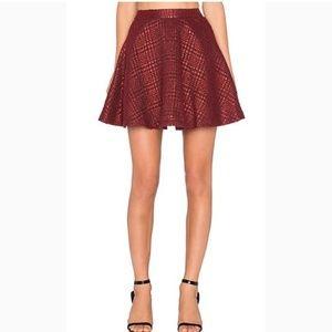 NEW Alice&Olivia Blaise Red MetallicCircle Skirt
